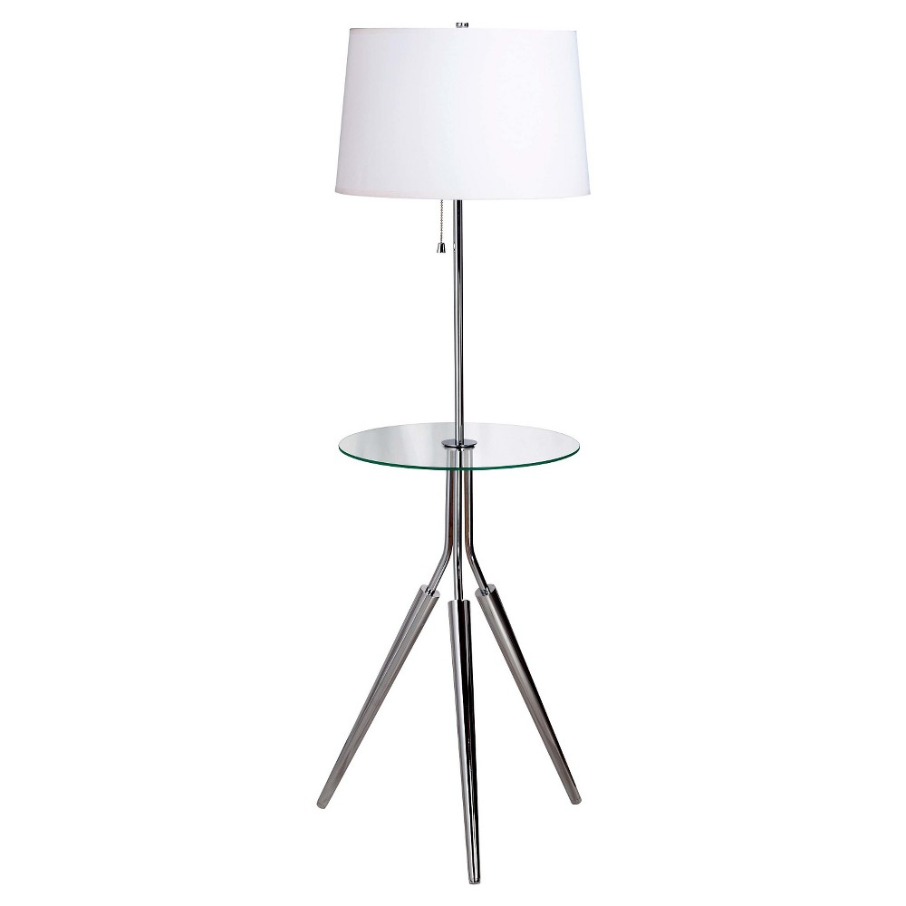Kenroy Home Floor Lamp - Chrome (Grey) (Lamp Only)