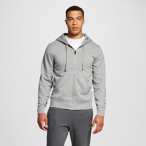 Men's Fleece Full Zip Hoodies - C9 Champion® Stone Gray L - image 1 of 2