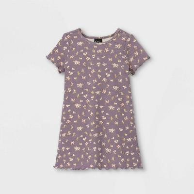 Toddler Girls' Ribbed Short Sleeve Dress - art class™
