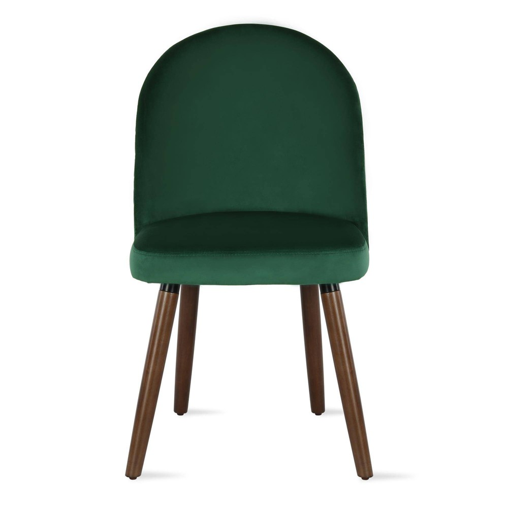 Image of 2pc Burma Upholstered Dining Chair Green - Novogratz