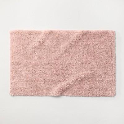 """21""""x34"""" Ultra Soft Tufted Bath Rug Light Blush - Casaluna™"""