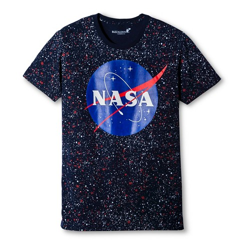 Men's NASA® Splatter T-Shirt - Navy - image 1 of 1