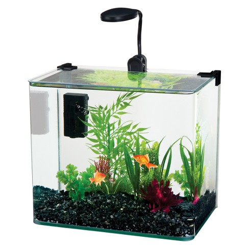 Water World Radius Desktop Aquarium Kit with Curved Corners from Penn-Plax - image 1 of 1