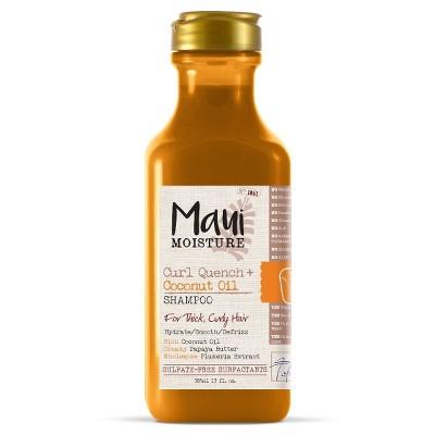 Maui Moisture Curl Quench + Coconut Oil for Thick Curly Hair Shampoo - 13 fl oz
