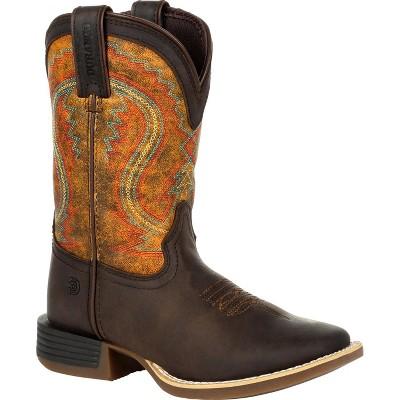 Lil' Durango Rebel Pro Little Kid's Burnt Orange Western Boot Size 10