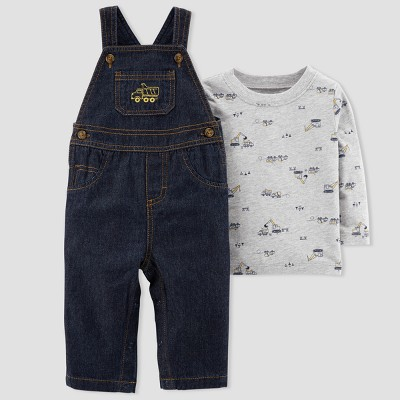 Baby Boys' 2pc Denim Construction Overall Set - Just One You® made by carter's Blue 3M