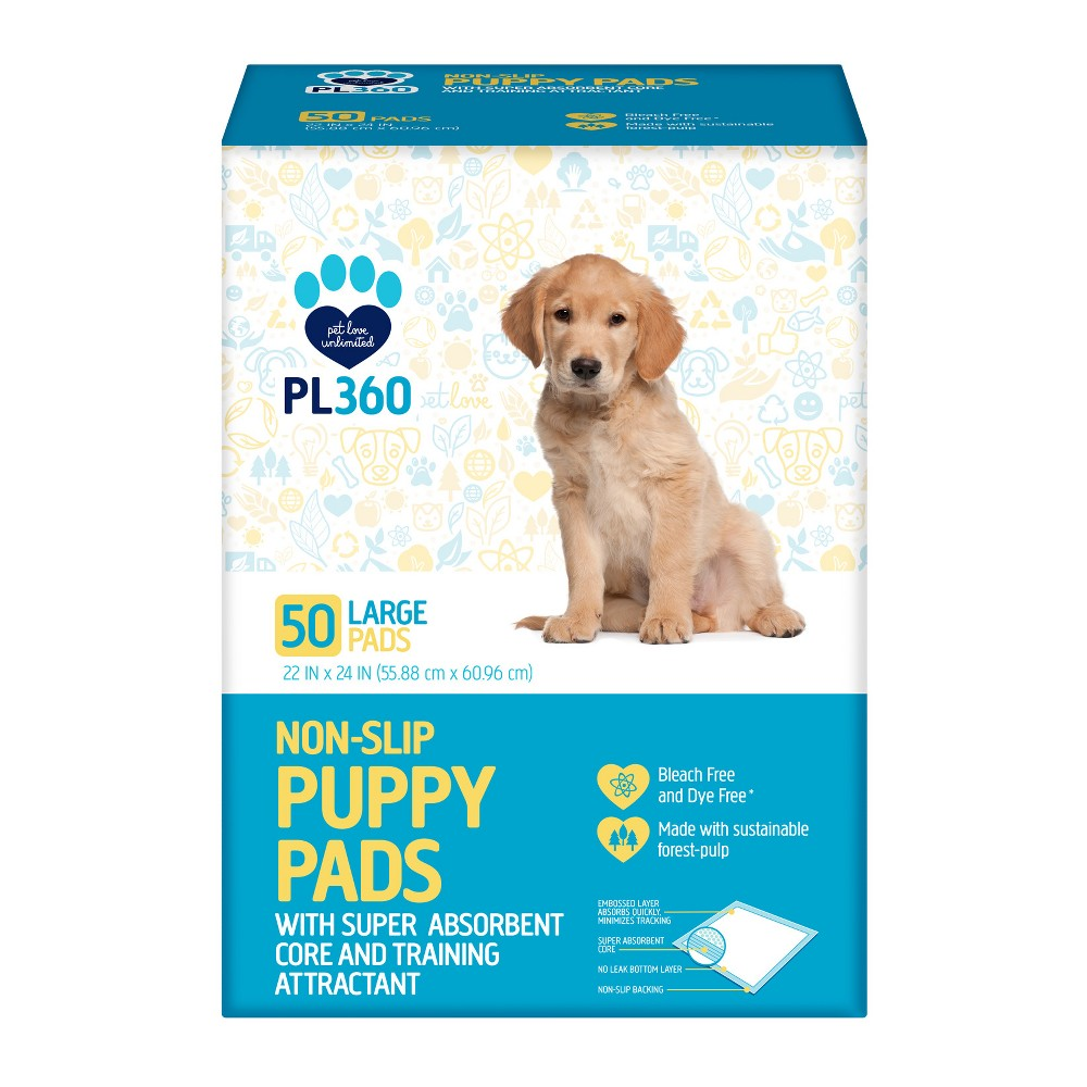PL360 - Puppy Pads - 50ct, Gray