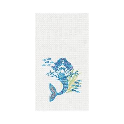C&F Home Mermaid Garden Waffle Weave Towel
