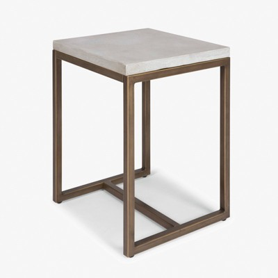 Geometric End Table Chalky White   Home Styles by Home Styles
