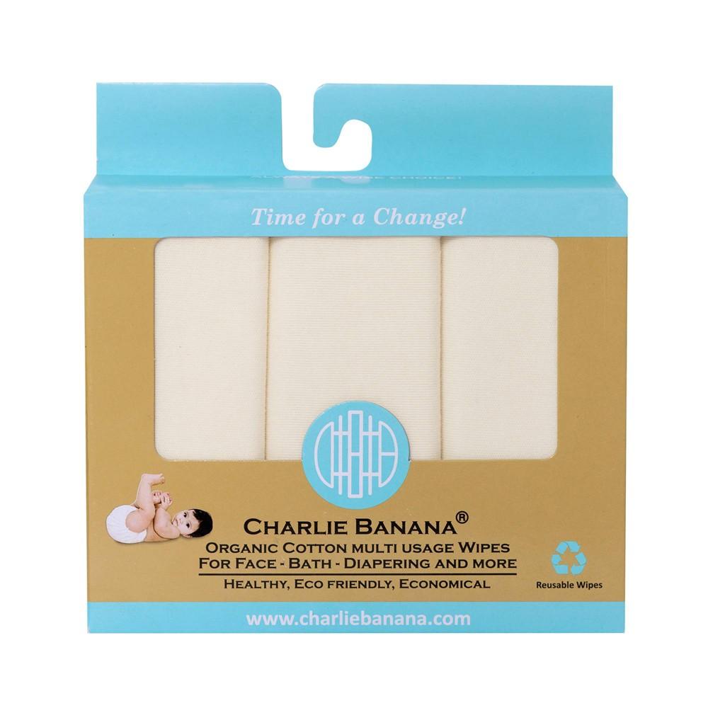 Charlie Banana Reusable Organic Wipes 10ct