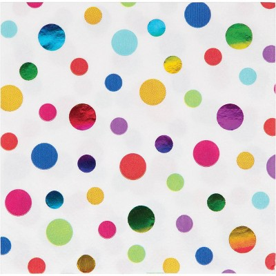 48ct Rainbow Print Beverage Napkins