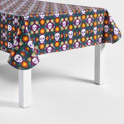 """60"""" x 84"""" Da de Muertos Floral Floss Tablecloth"""