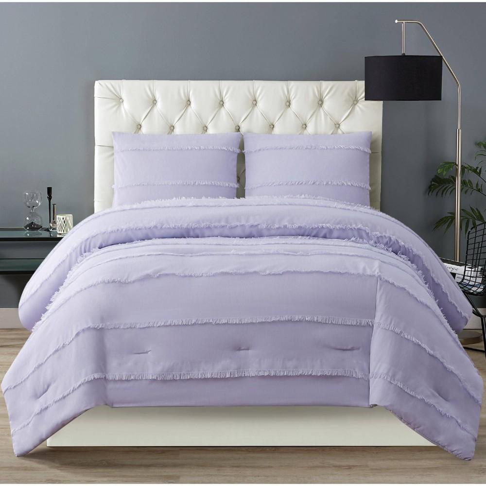 Christian Siriano Full/Queen 3pc Kristen Comforter Set Purple
