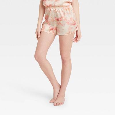 Women's Tie-Dye Satin Pajama Shorts - Stars Above™ Pink