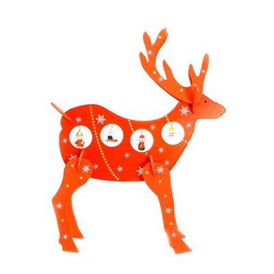 """Northlight 13"""" Red and White Reindeer Cut-Out Christmas Tabletop Decor"""