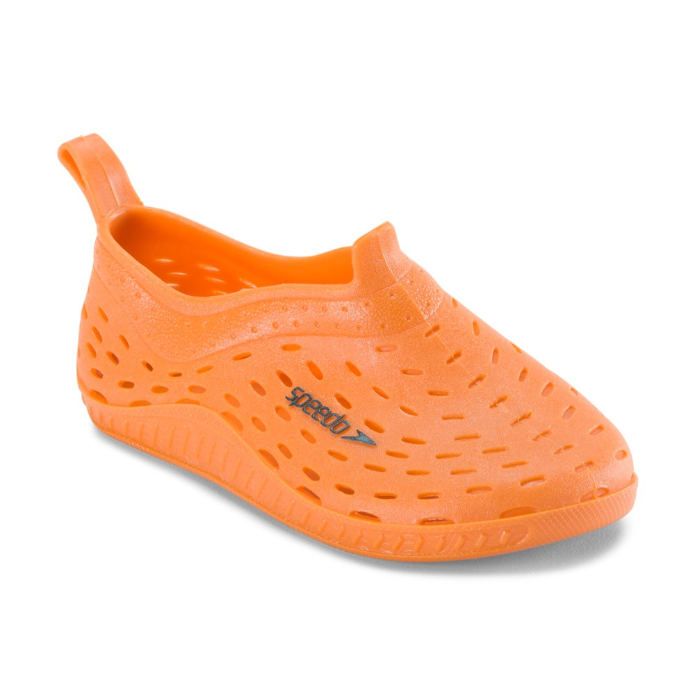 Speedo Toddler Boys' Jellies Water Shoes - Orange (Large)