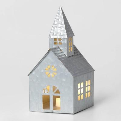 Galvanized Church Decorative Figurine Sliver - Wondershop™