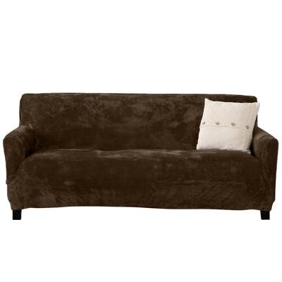 Great Bay Home Stretch Fit Velvet Oversized Sofa Slipcover