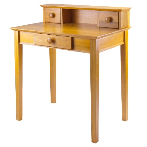 Studio Writing Desk with Hutch Honey Brown - Winsome - image 1 of 4