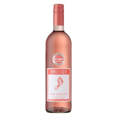 Barefoot Pink Moscato Wine - 750ml Bottle
