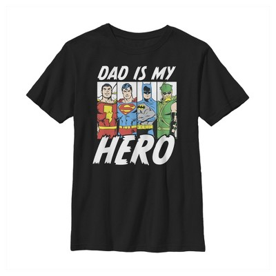Boy's Justice League Father's Day Dad is Hero T-Shirt