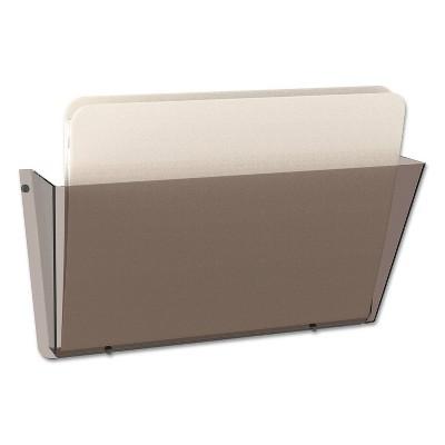deflect-o Unbreakable Docupocket Single Pocket Wall File, Letter, Smoke