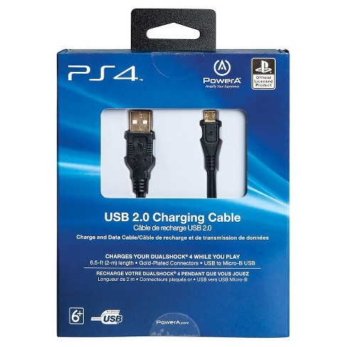 5ee6f49a8d82c8 PowerA USB Charging Cable For PlayStation 4 : Target