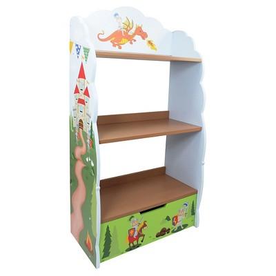 Knights & Dragon Bookshelf Wood - Teamson