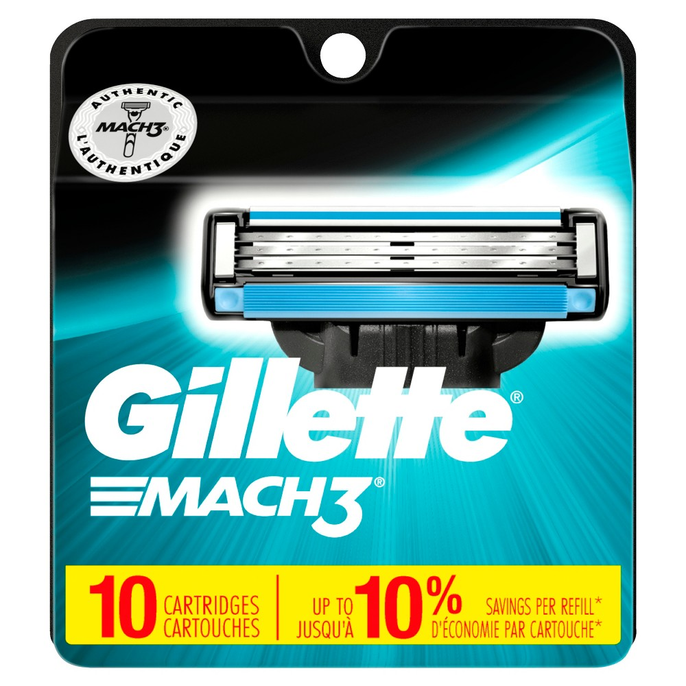 Image of Gillette Mach3 Men's Razor Blade Refills - 10ct