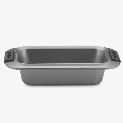 """Anolon Advanced Bakeware 9"""" x 5"""" Nonstick Loaf Pan with Silicone Grips Gray"""