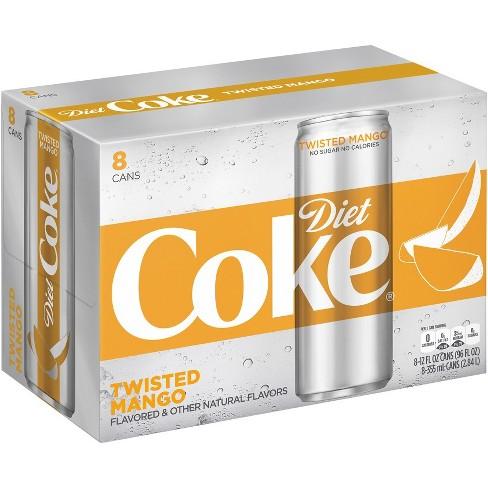 Diet Coke Twisted Mango 8pk 12 Fl Oz Sleek Cans Target