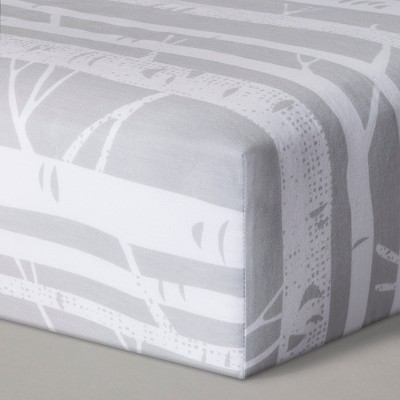 Fitted Crib Sheet Birch - Cloud Island™ Gray