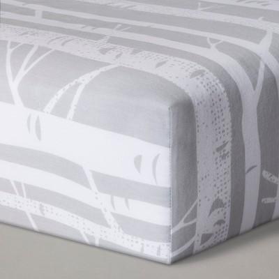 Fitted Crib Sheet Birch - Cloud Island™ Gray