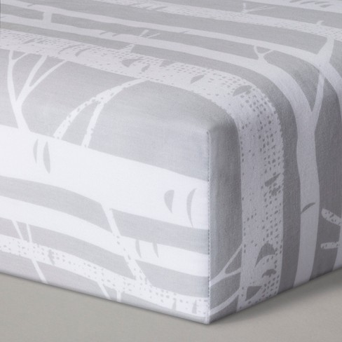 Fitted Crib Sheet Birch - Cloud Island™ Gray - image 1 of 1
