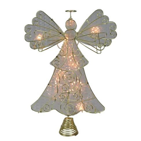 Angel Christmas Tree Topper.Kurt S Adler 13 Lighted Gold With Reflector Angel Christmas Tree Topper Clear Lights