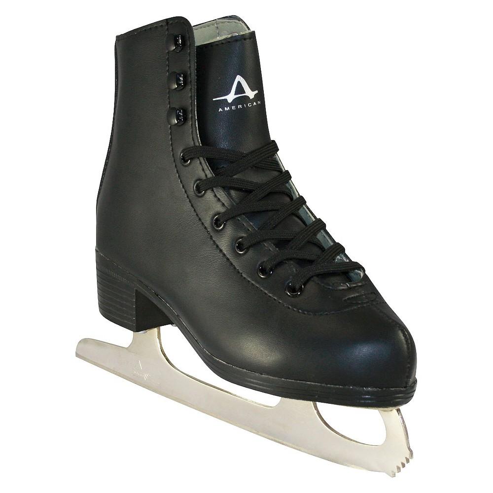 Boys American Tricot Lined Figure Skate - Black (13)