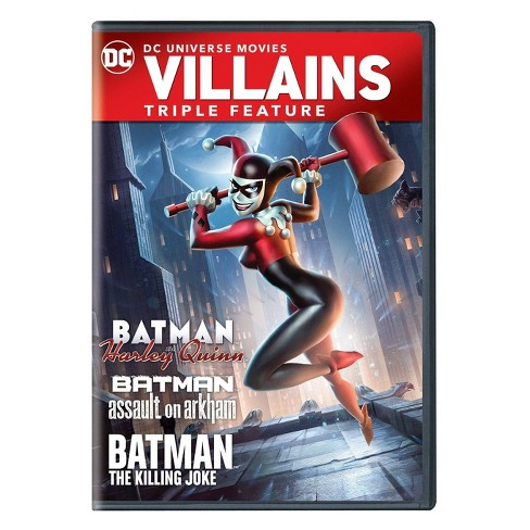 Batman And Harley Quinn Triple Feature Dvd Target