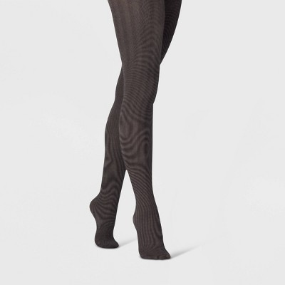 Women's Herringbone with Subtle Sparkle Tights - A New Day™ Black