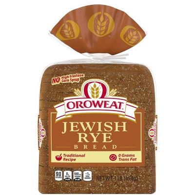 Oroweat Jewish Rye Bread - 16oz