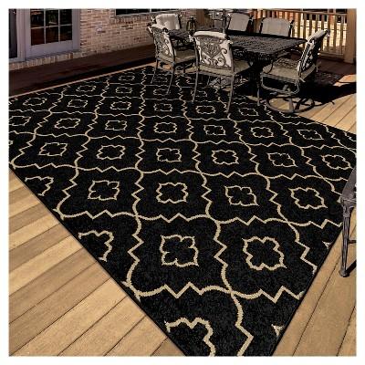 Orian Rugs Garden Gate Napa Indoor/Outdoor Area Rug   Brown : Target