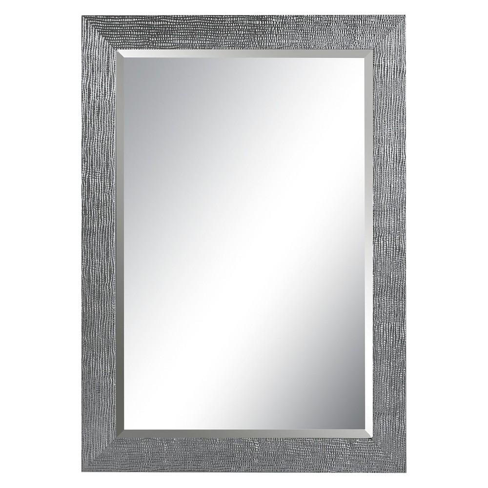 Rectangle Tarek Decorative Wall Mirror Silver - Uttermost, Silver Gray