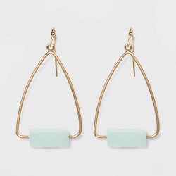 Rectangular Cubed Semi-Precious Drop Earrings - Universal Thread™