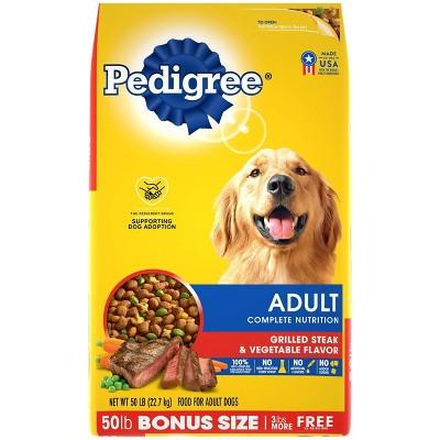 Pedigree Grilled Steak & Vegetable Flavor Adult Complete Nutrition Dry Dog Food