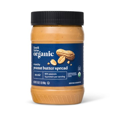 Organic No Stir Crunchy Peanut Butter - 16oz - Good & Gather™