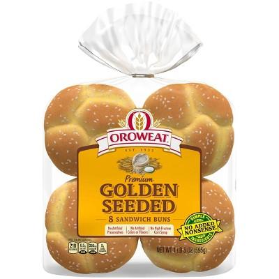 Oroweat Premium Golden Seeded Sliced Buns - 21oz/8ct