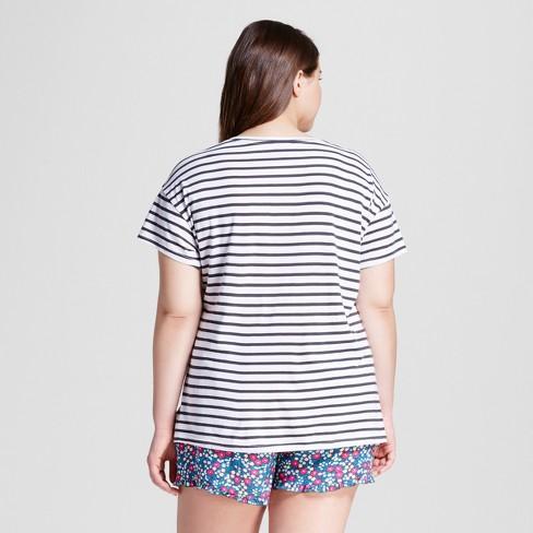 ce4cbed834 Women s Plus Size 2pc Pajama Set - Xhilaration™ Charcoal 1X   Target