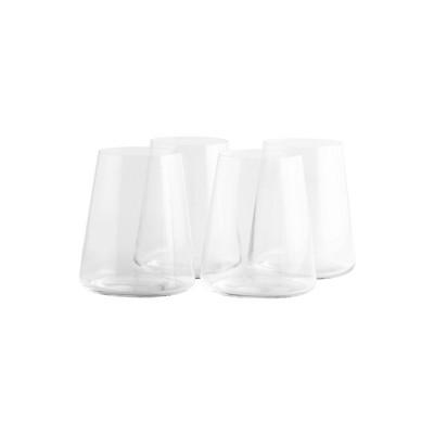 17.5oz 4pk Crystal Power Stemless Red Wine Glasses - Stoelzle