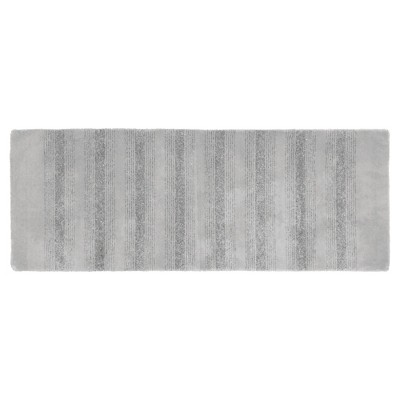 Garland Essence Nylon Washable Bath Runner - Platinum Gray (22 x60 )