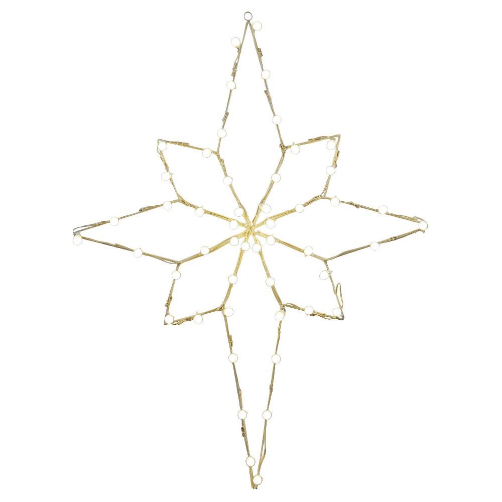 48 x 36 Bethlehem Star C7 Wire Motif - Multicolored, Multi-Colored