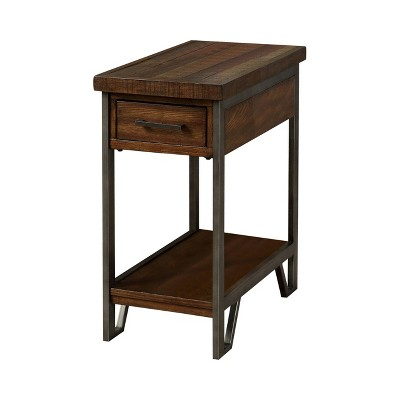 Barraud One Drawer Usb Charging End Metal Table Oak - HOMES: Inside + Out